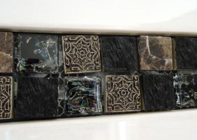 Bordüre Stein Glas