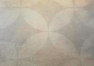 Großfliese mit Muster