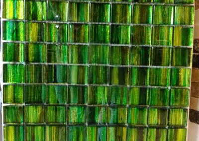 Mosaik Glas grün
