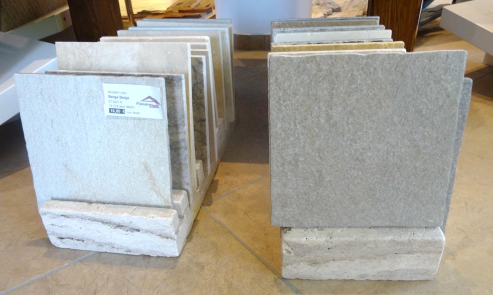 Balkon- und Terrassenplatten 20 x 20 cm aus Naturstein